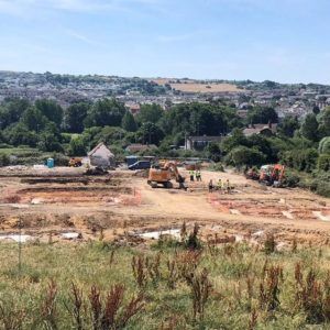 Foundations for 20 new homes at Prospect Farm are underway
