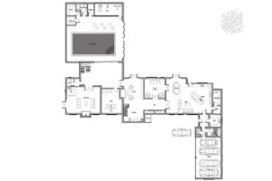 Floor plan and planning for a luxury new county home in Kent.